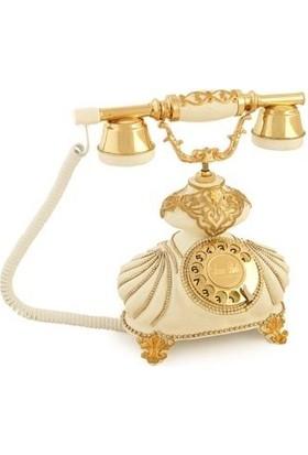 Anna Bell İtalyan Burmalı Kemik Varaklı Telefon