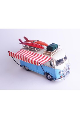 50Bir Nostaljik Metal Model Tenteli Sörfçü Woswos Minibüs