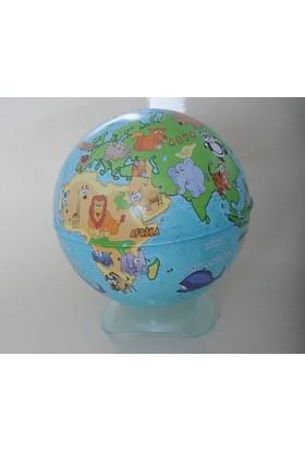Gürbüz Yayınları Globe Kalemtraş Hayvanlı Küre 10 Cm