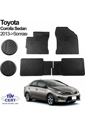 İmage Toyota Corolla Oto Paspas Siyah 2013 Sonrası