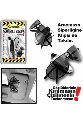Automix Gözlük Tutucu Klipsli