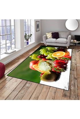 Else Halı Meyveler Dekoratif Modern Mutfak Halısı