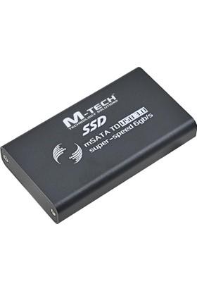 M-Tech Mmssd0056 Usb3.0 Msata 6Gbps İçin Harici Ssd Disk Kutusu, Siyah