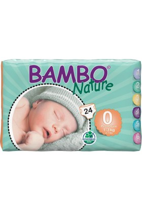 Bambo Nature Bebek Bezi Prematüre 0 Beden 24 Adet