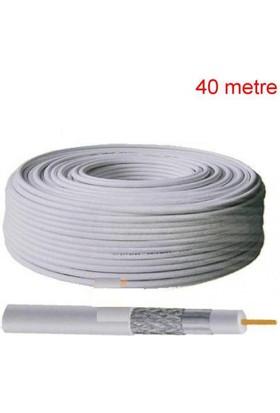 Ramtech 40 Metre Uydu Anten Kablosu Fullhd 3D 4K Uyumlu