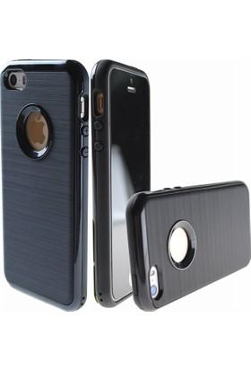 Case 4U Apple iPhone 5/5s/SE Kılıf İnfinity Motomo Koruyucu Kapak Siyah