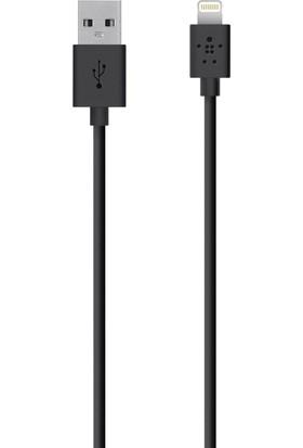 Belkin iPhone 6 Plus/6/5S/5C/5/iPad Mini/iPad Air Lightning Şarj ve Data Kablosu Siyah - BLK-527