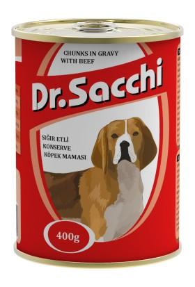Dr.Sacchi Köpek Konserve Sığır Etli 400 gr gk