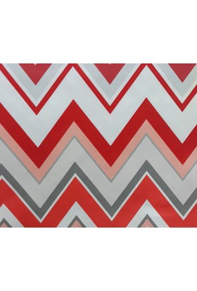 Mrs.Pillow Kırmızı Zigzag Döşemelik Kumaş (Petek)