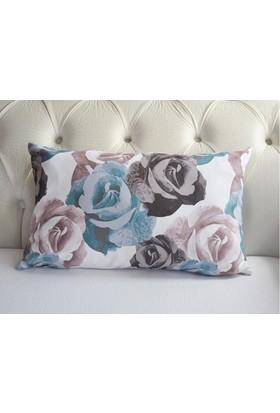 Mrs.Pillow Mavi Büyük Gül Desenli Bel Kırlenti