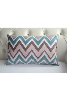 Mrs.Pillow Mavi Zigzag Desenli Bel Kırlenti