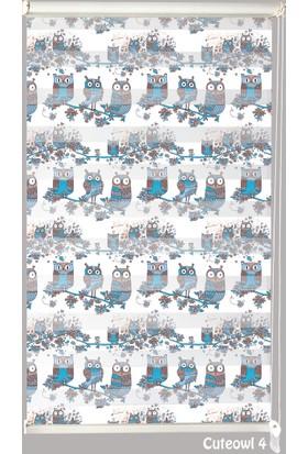 Mrs.Pillow Cuteowl 4 Desenli Zebra Perde
