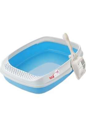 Lüx Açık Kedi Tuvalet Kabı Mavi