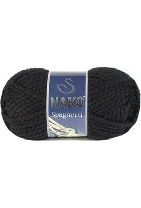 Nako Spaghetti Örgü İpliği 217 - Siyah