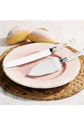 Royal Windsor Kristal Saplı 2 Parça Kek, Pasta Bıçak Seti