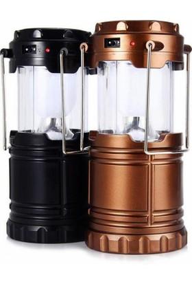 Watton Wt-285 Güneş Enerjili Şarj Edilebilir Usb Girişli Kamp Feneri