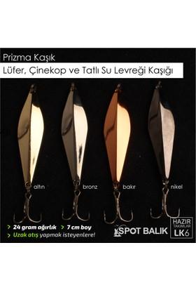 Spotbalık Çinekop Lüfer Levrek Kaşığı, Prizma Kaşık 24G