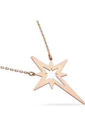 Zevahir Gümüş Yıldız Kolye 925 Ayar Gümüş