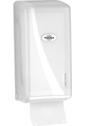 Rulopak Modern C Katlı Tuvalet Kağıt Dispanser 400 'Lü Transparan Beyaz