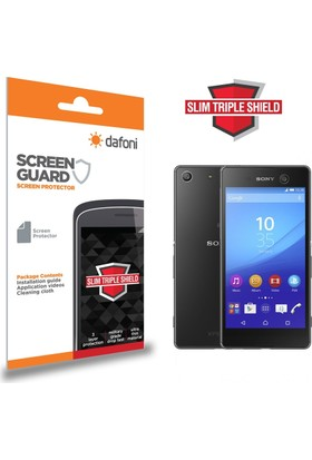 Dafoni Sony Xperia M5 Slim Triple Shield Ön + Arka Ekran Koruyucu
