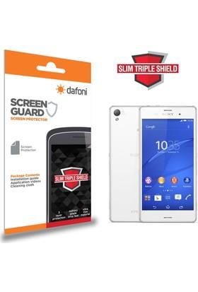 Dafoni Sony Xperia Z3 Slim Triple Shield Ön + Arka Ekran Koruyucu