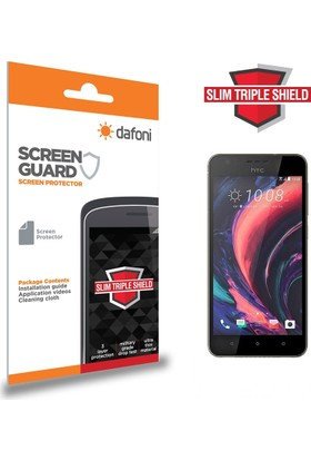 Dafoni HTC Desire 10 Pro Slim Triple Shield Ekran Koruyucu