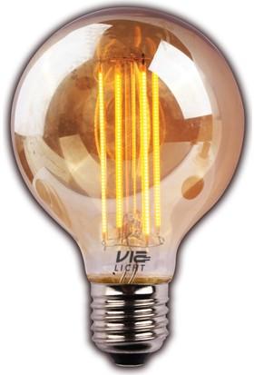 Vialicht 2W (20W) Led Filament Deco G95 E27 Ampul 170 lmn 2000K GOLD