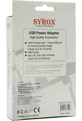 Syrox Sony Xperia M2 Şarj Cihazı Hızlı Şarj