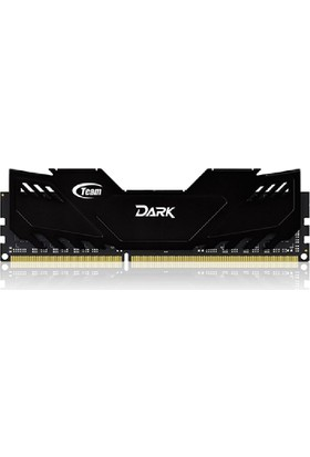 Team Dark Black 8GB 1600 MHz DDR3 CL9-9-9-24 1.5V Siyah Soğutuculu Overclocking Ram (TM3D160081BLK)