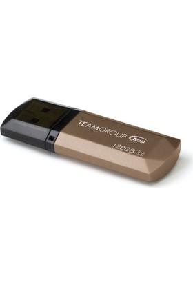 Team C155 128GB USB3.0 Bellek (Altın Rengi)(85MB/s Okuma / 20MB/s Yazma) (TMUC155128G)