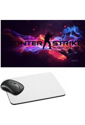 Fotografyabaskı Counter Strike Baskılı Dikdörtgen Mouse Pad