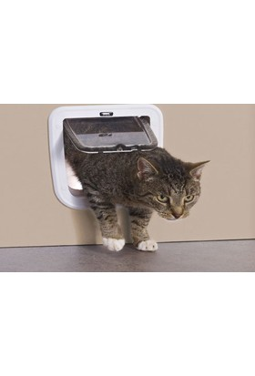 Savıc Access Çift Yönlü Cam Kedi Kapısı Beyaz