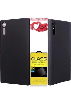 Coverzone Sony Xperia Xz Kılıf Premier Silikon Siyah + + 3D Araç Kokusu