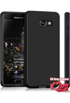 Coverzone Samsung Galaxy A7 2016 Kılıf A710 Slim Fit Silikon + 3D Araç Kokusu