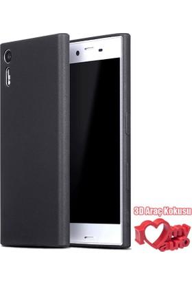 Coverzone Sony Xperia Z2 Kılıf Slim Fit Silikon + 3D Araç Kokusu