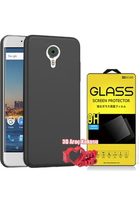 Coverzone General Mobile Gm5 Kılıf Slim Fit Silikon Siyah + + 3D Araç Kokusu