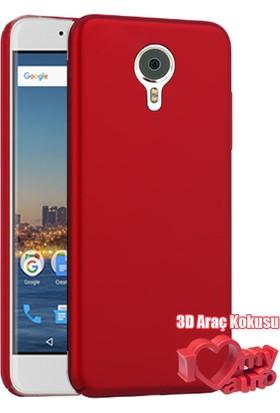 Coverzone General Mobile Gm5 Kılıf Slim Fit Silikon Bordo + 3D Araç Kokusu