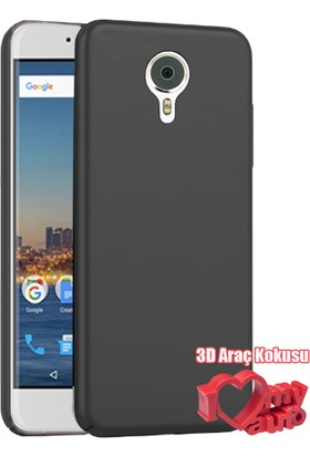Coverzone General Mobile Gm5 Plus Kılıf Slim Fit Silikon Siyah + 3D Araç Kokusu