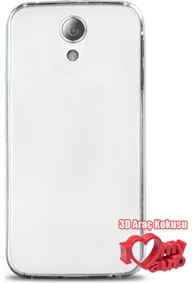 Coverzone Casper Via P1 Kılıf 0,2 Ultra İnce Silikon Şeffaf + 3D Araç Kokusu