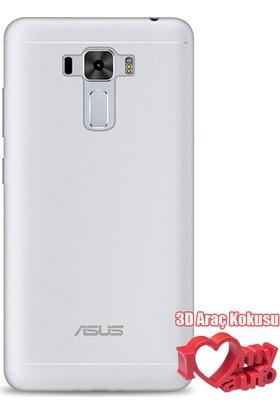 Coverzone Asus Zenfone 3 Kılıf Ze552Kl 0,2 Mm Silikon Şeffaf + 3D Araç Kokusu
