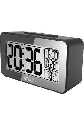 Baldr Alarmlı Takvimli Saat Termometre Masa Saati Thr193