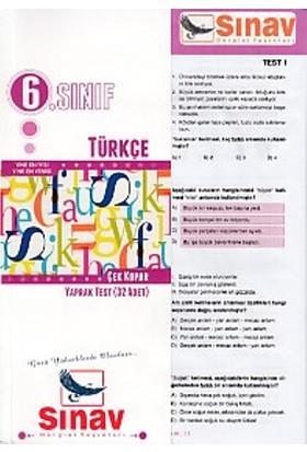 Sınav Dergisi Yayınları 6. Sınıf Türkçe Çek Kopar Yaprak Test