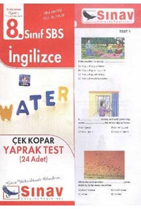 Sınav Dergisi Yayınları 8. Sınıf İngilizce Çek Kopar Yaprak Test