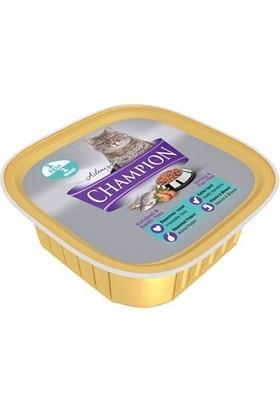 Champion 16 Adet Karidesli ve Balıklı Pate Yaş Kedi Maması 16 X 100 gr