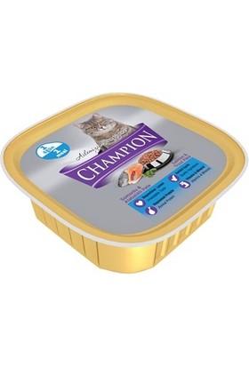 Champion 16 Adet Somon ve Alabalıklı Pate Yaş Kedi Maması 16 X 100 gr