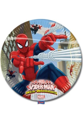 Partiland Spiderman Tabak 8 Adet 23 Cm