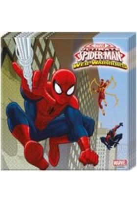 Partiland Spiderman Peçete 20 Adet 33X33 Cm Çift Katlı