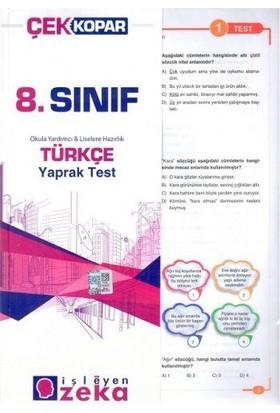 İşleyen Zeka 8. Sınıf Türkçe Yaprak Test