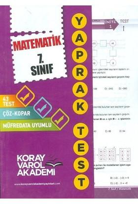 Koray Varol 7. Sınıf Matematik Yaprak Test