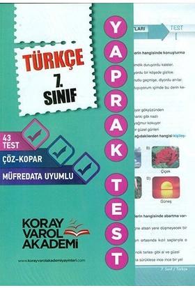 Koray Varol 7. Sınıf Türkçe Yaprak Test